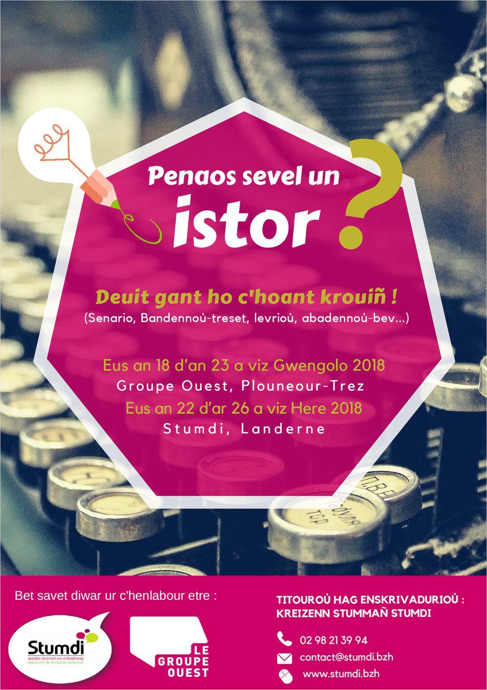 Skritell Penaos sevel un istor - Stumdi organisme de formation en langue bretonne