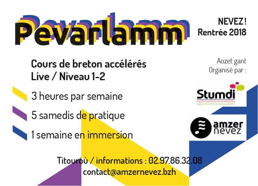 Pevarlamm Amzer Nevez - Stumdi centre de formation en langue bretonne