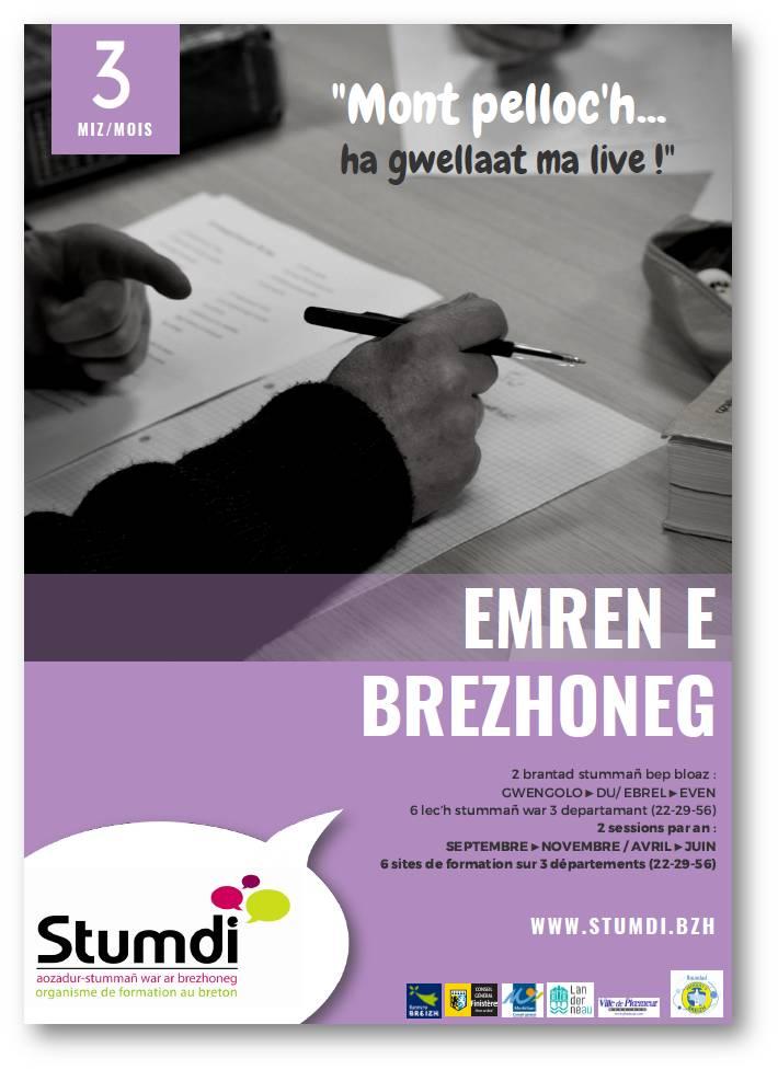 Emren e brezhoneg - Stumdi centre de formation en langue bretonne