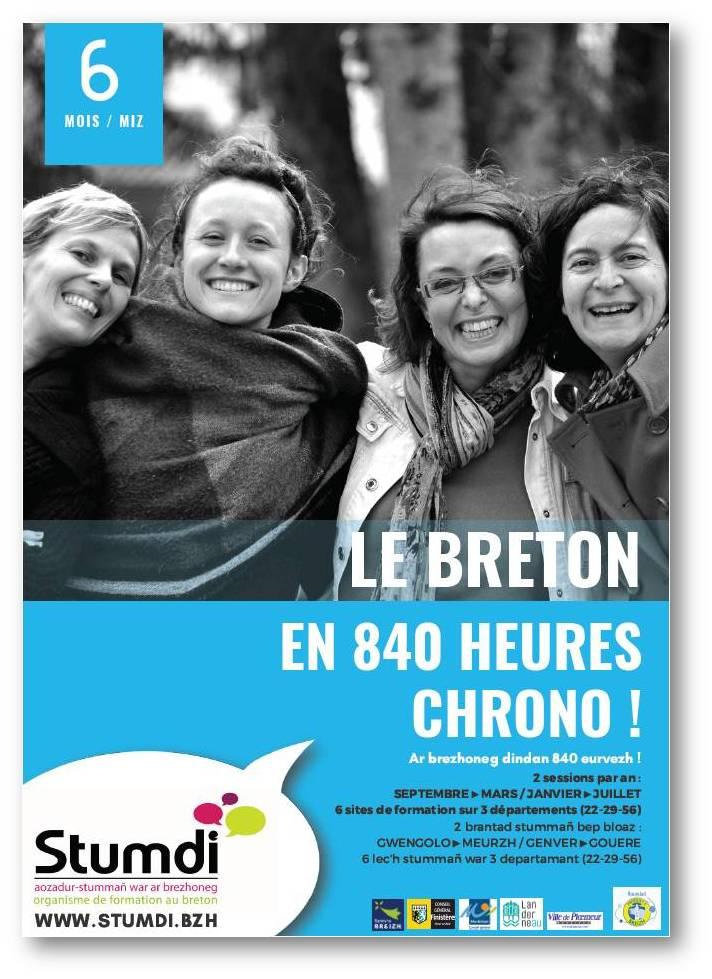 Le breton en 840h chrono - Stumdi centre de formation en langue bretonne