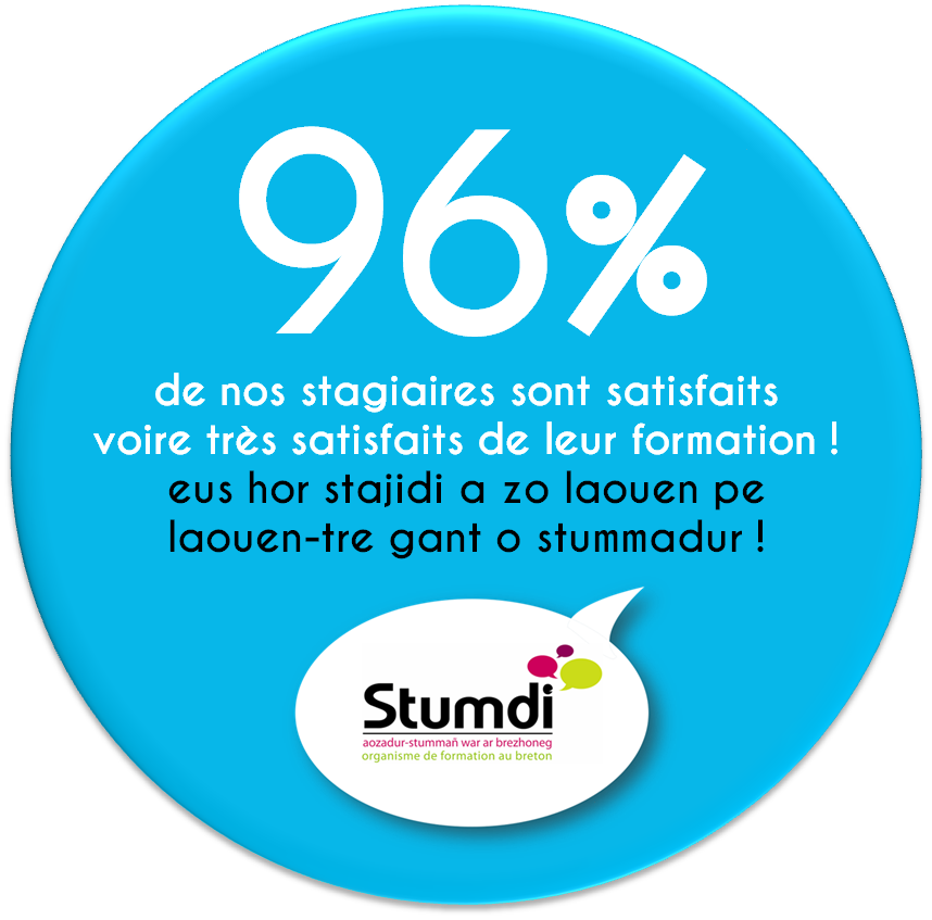 Taux de satisfaction - Centre de formation langue bretonne Stumdi