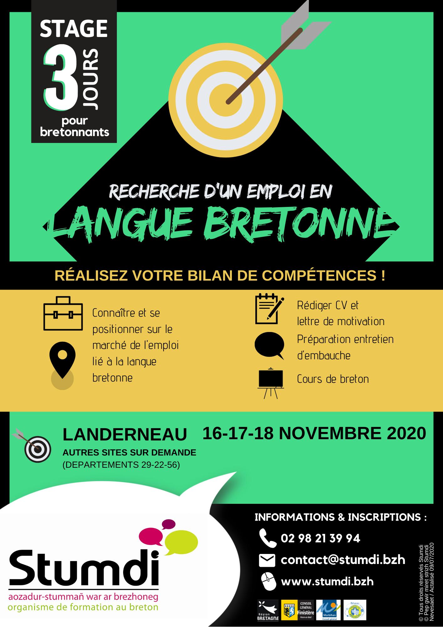 Recherche emploi en langue bretonne - Stumdi centre de formation