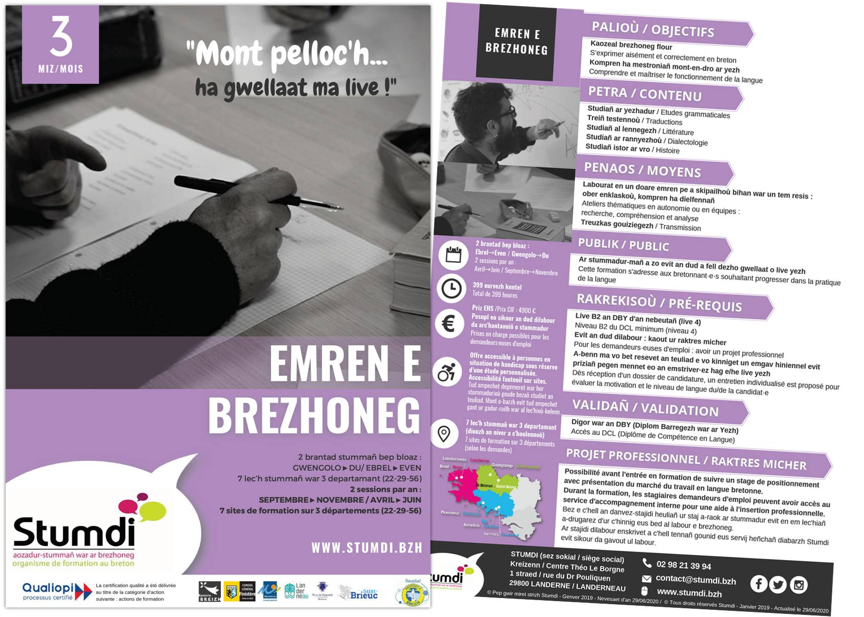Emren e brezhoneg - Stumdi centre de formation en langue bretonne - Kreizenn stummañ war ar brezhoneg