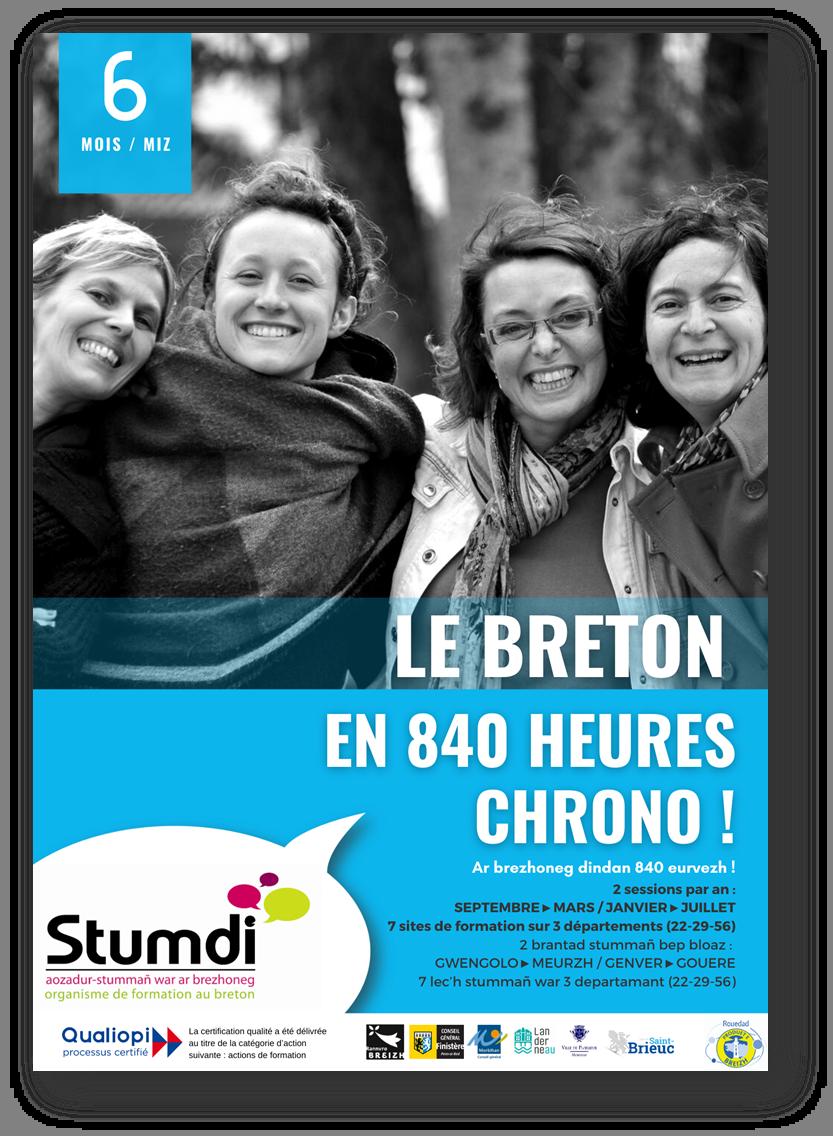 Le breton en 840h chrono ! Stumdi - centre de formation en langue bretonne