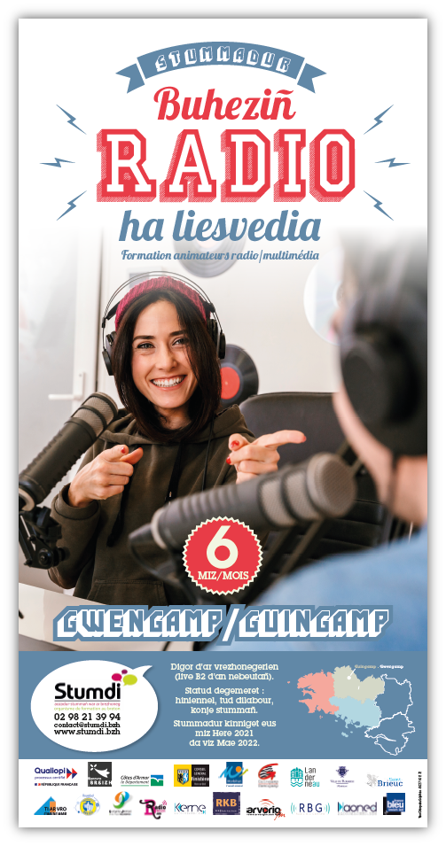 Affiche formation radio multimédia en langue bretonne