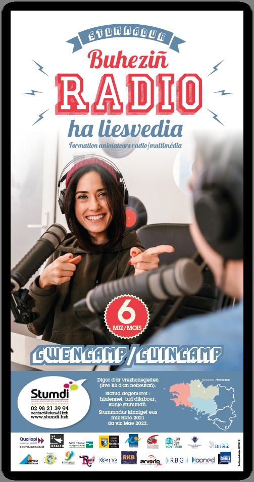 Stummadur buheziñ radio liesvedia - Gwengamp multimédia Guingamp
